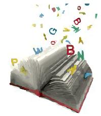 Augeschlagenes Buch mit fliegenden Buchstaben-01